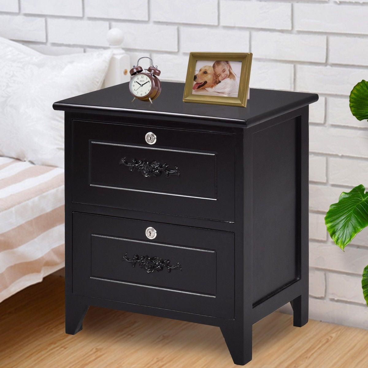 way solid wood elegant night stand locking drawer storage shelf end table black with free shipping today brown sofa grey walls oval shaped coffee large portable dog crate round