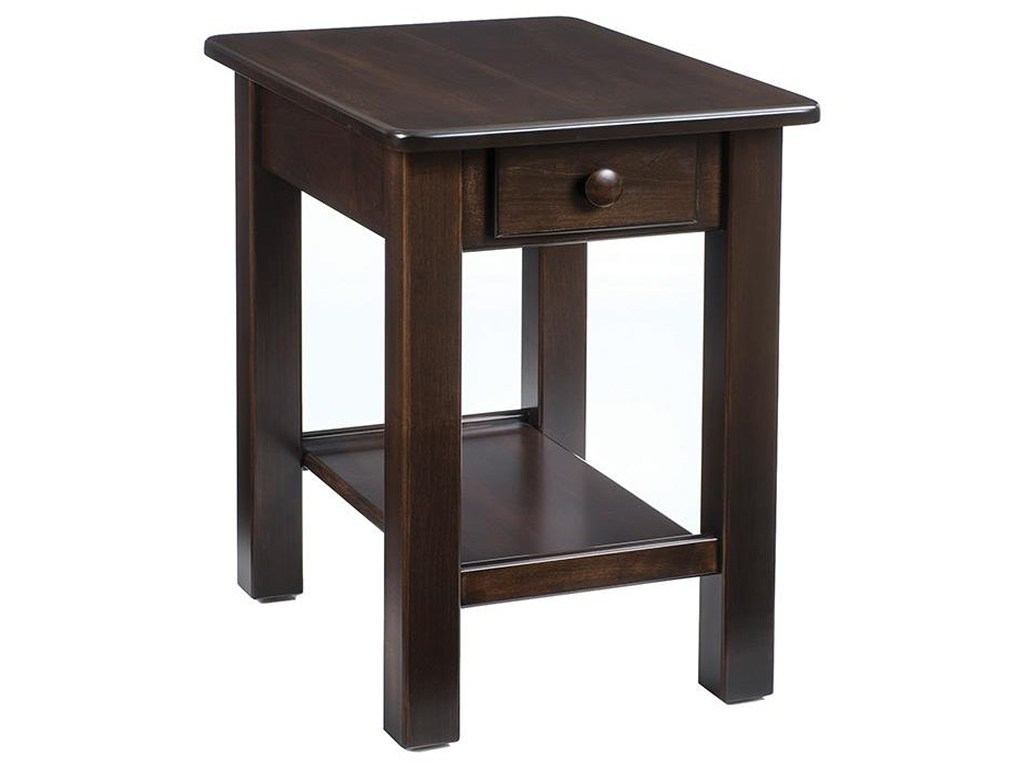 wayside custom furniture contemporary chairside table products color hopewood end tables hampton bay outdoor cushions pine wood fixer upper round mirror buffet ikea triangle glass