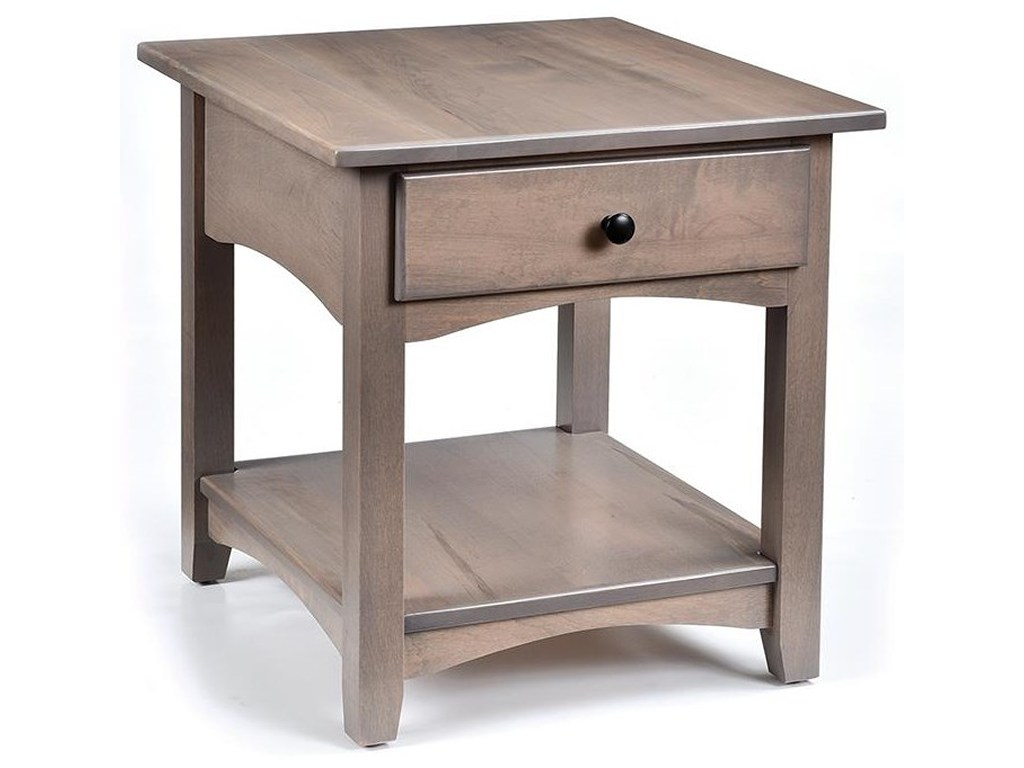 wayside custom furniture modern shaker end table products color hopewood tables ethan allen maison refinish kitchen home patio luggage lift top coffee with behind sofa chairs
