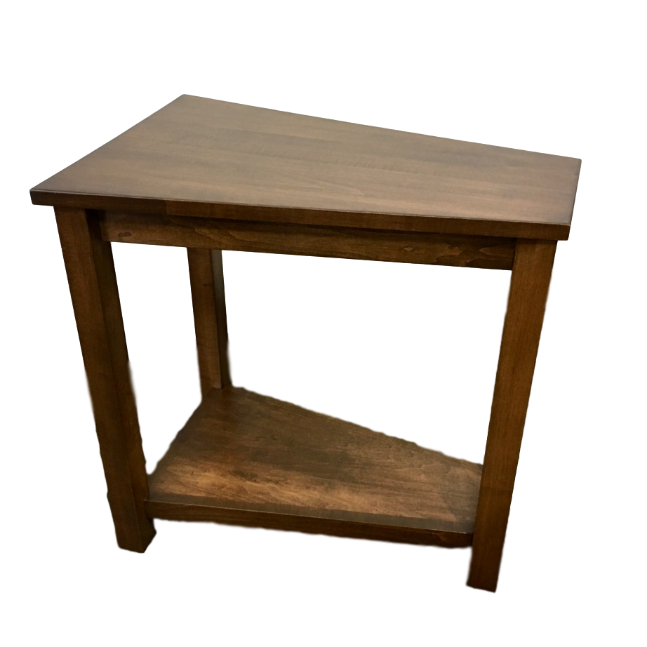 wedge table home envy furnishings solid wood furniture side view end espresso finish living room occasional accents accent chairside who sells pulaski light rustic coffee ashley