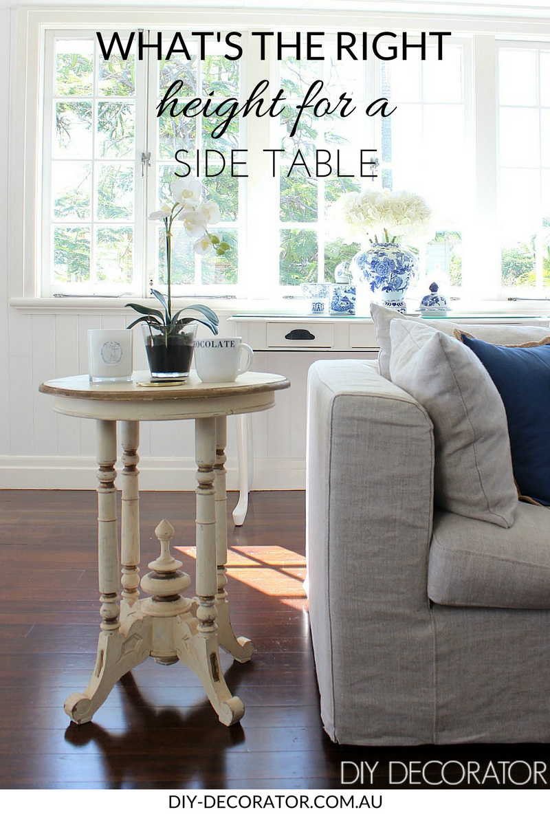 what the right height for side table interior design rules end read this blog post before you new unusual glass dining room with wood base tree stump coffee iron patio whalen sofa
