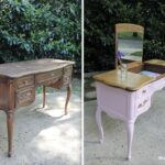 when should you not paint wood furniture french provincial vanity before and after thrift diving painting end tables black found this vintage chair the had qualms about frame 150x150