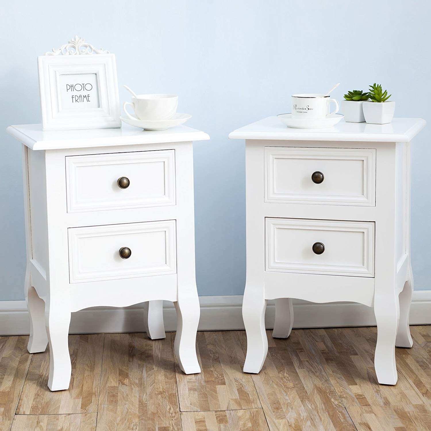 white nightstand set bedside end table pair shabby bedroom furniture tables chick kitchen dining liberty room chairs kmart sport shoes mirror side ikea modern dog cage baby