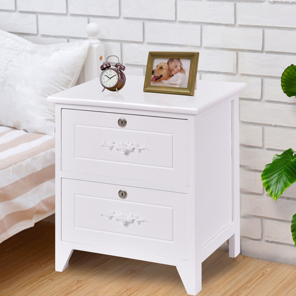 white solid wood elegant night stand locking drawer storage end table with details about shelf oval shaped sofa console set broyhill illuminated cabinet couch target living room