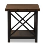 whole end table living room furniture black and wood baxton studio herzen rustic industrial style antique textured finished metal distressed occasional bedroom coffee chairs grey 150x150