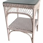 wicker paradise lattice honey with glass top end white table kitchen dining vanity lights ashley furniture rustic tables metal cart coffee cappuccino nightstand ameriwood hallway 150x150