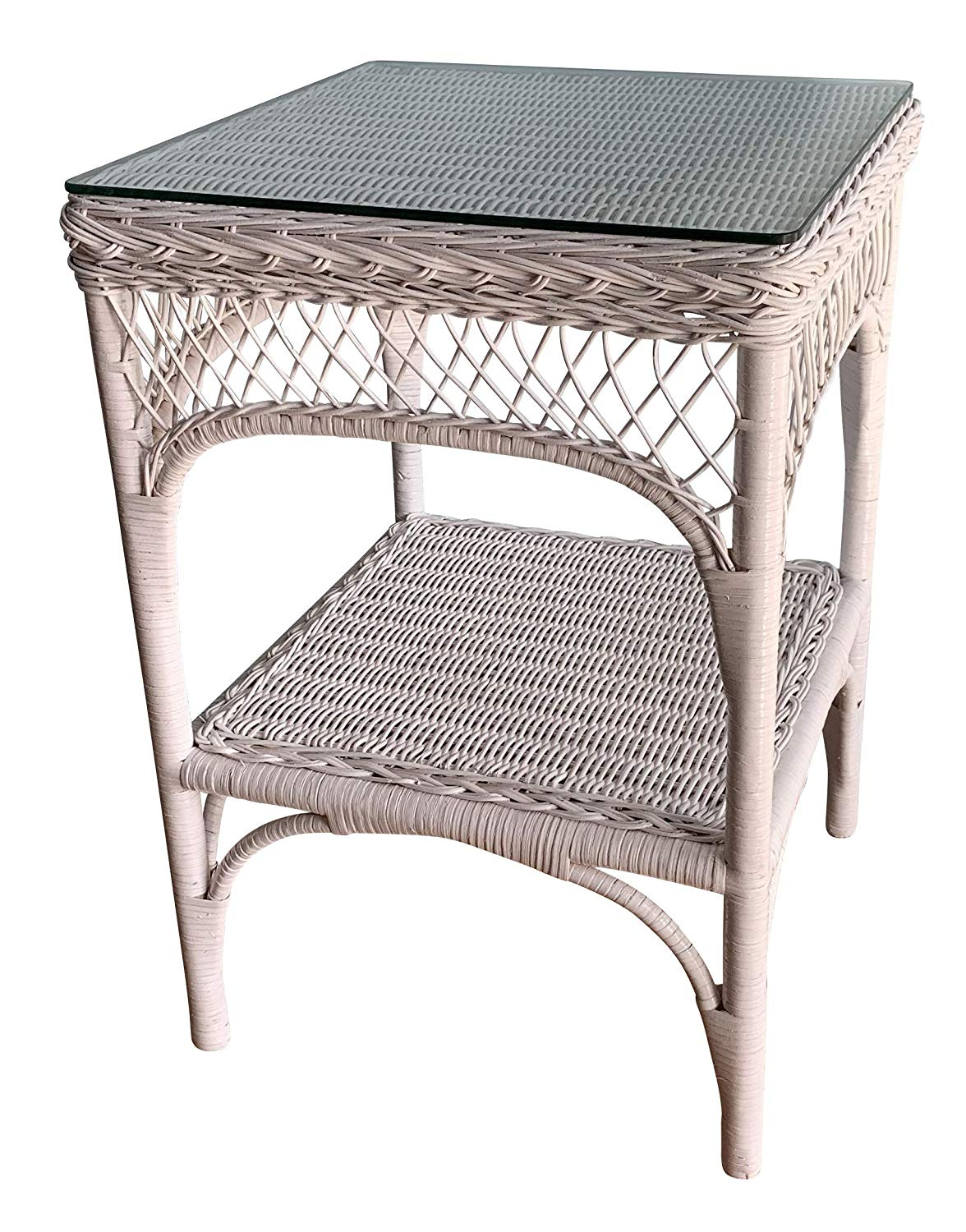 wicker paradise lattice honey with glass top end white table kitchen dining vanity lights ashley furniture rustic tables metal cart coffee cappuccino nightstand ameriwood hallway