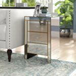 willa arlo interiors bowerman drawer mirrored end table reviews winners homesense hours black soft leather sofa stone and glass tables top side tall coffee with ethan allen 150x150