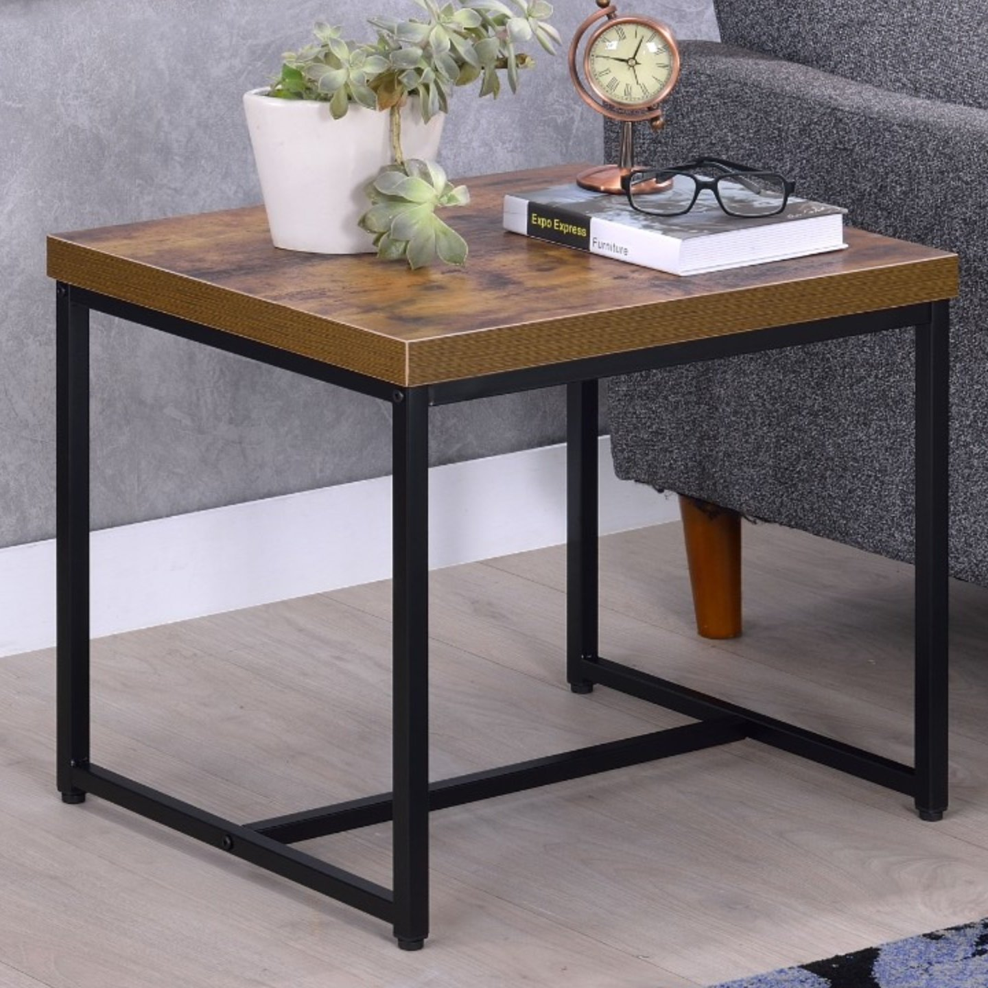 williston forge campo contemporary rectangular wood and metal end table tables ashley furniture reviews small for patio cat big black coffee matching entertainment center antique