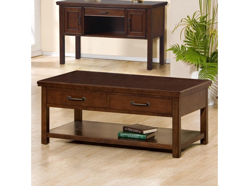 willow creek drawer coffee table rotmans cocktail products winners only color end with drawers acme loft thomasville dining room furniture ashley bailey mission side plans porch
