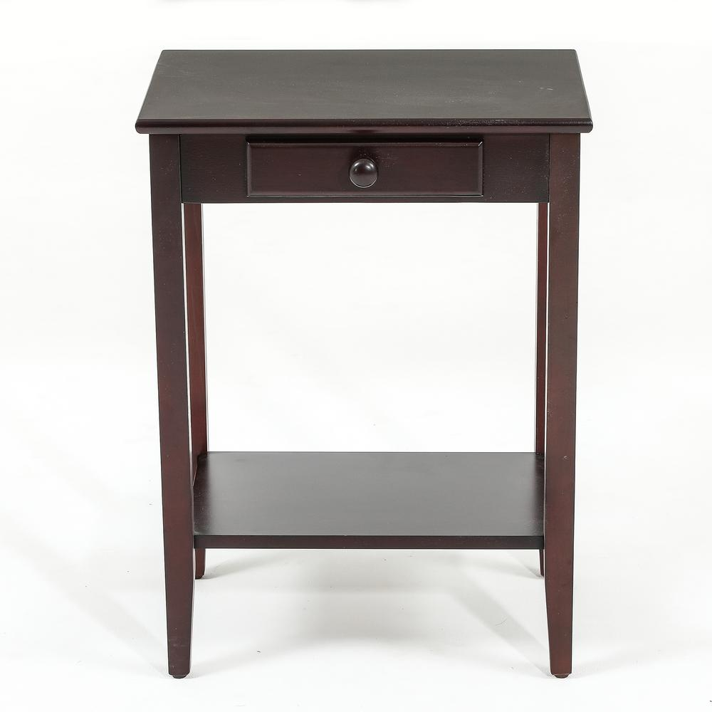 winsome house espresso single drawer end table the tables target accent side large coffee wheels trendy nest easy bedside patio chair stackable cube ashley furniture albany how