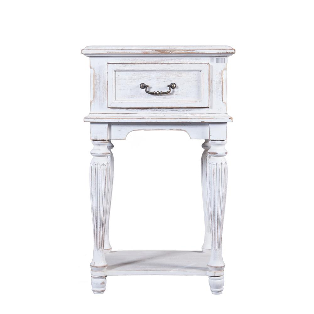 winsome house small white wood end table the finish tables distressed wallpaper for bathrooms laura ashley bolero dining chairs dark oak side chest bedside universal furniture