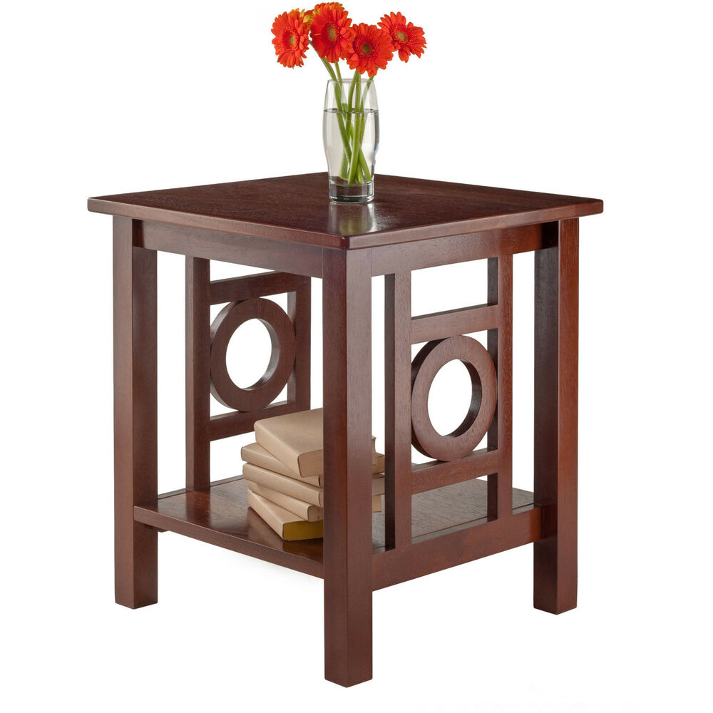 winsome wood ollie accent end table walnut finish home office furniture shelf tables brookstone cocktail master stacking wooden dog kennel kits mission style nightstand oak does