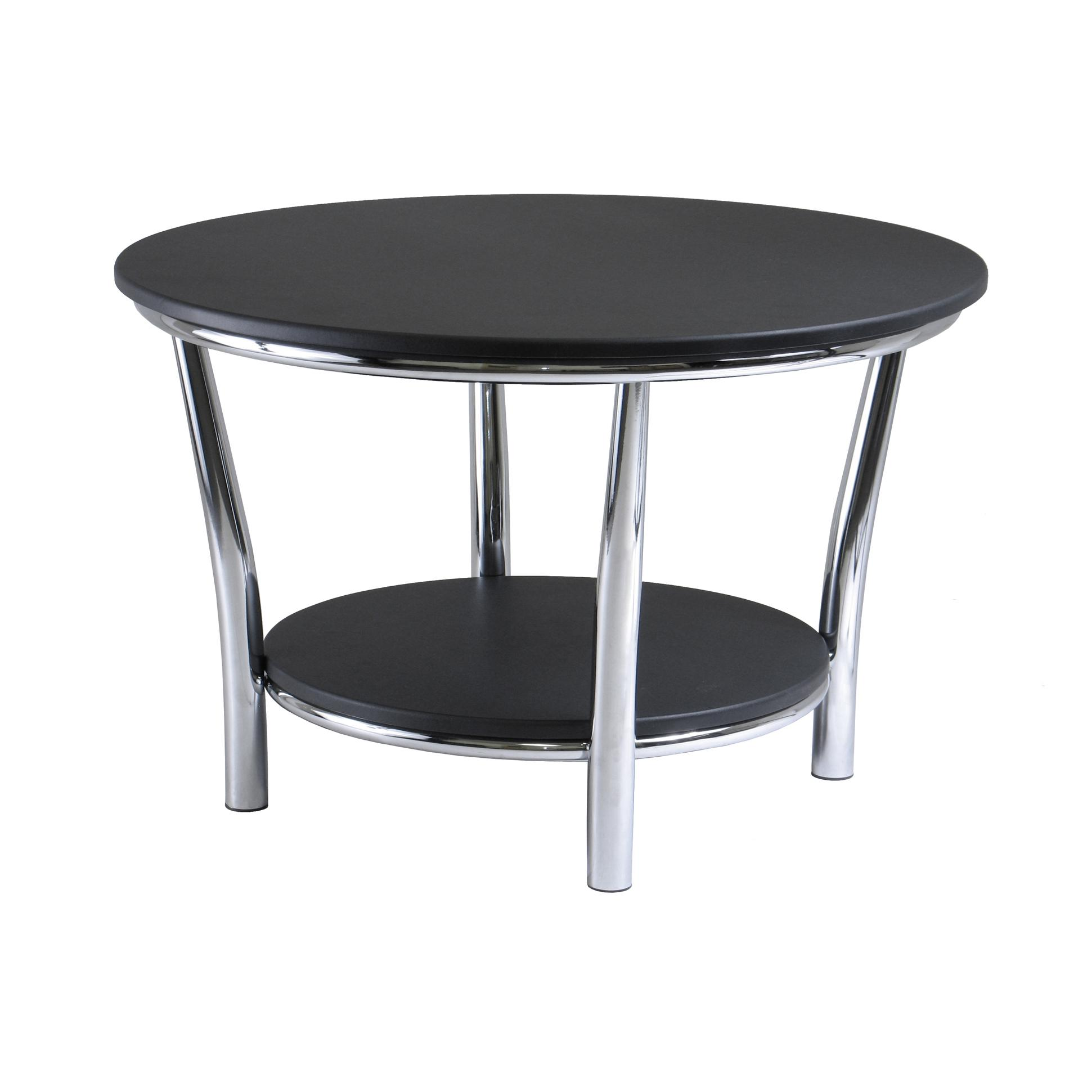 winsome wood round coffee table black top metal legs end from the manufacturer asian side cabinet homesense kelowna small green plastic patio high set ikea espresso magnolia