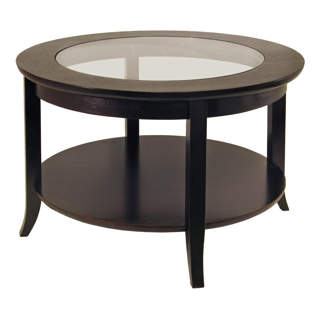 winsome wood round coffee table espresso home kitchen end corner nest tables ashley furniture marsilona primitive country ethan allen nashville white glass top dining long sofa