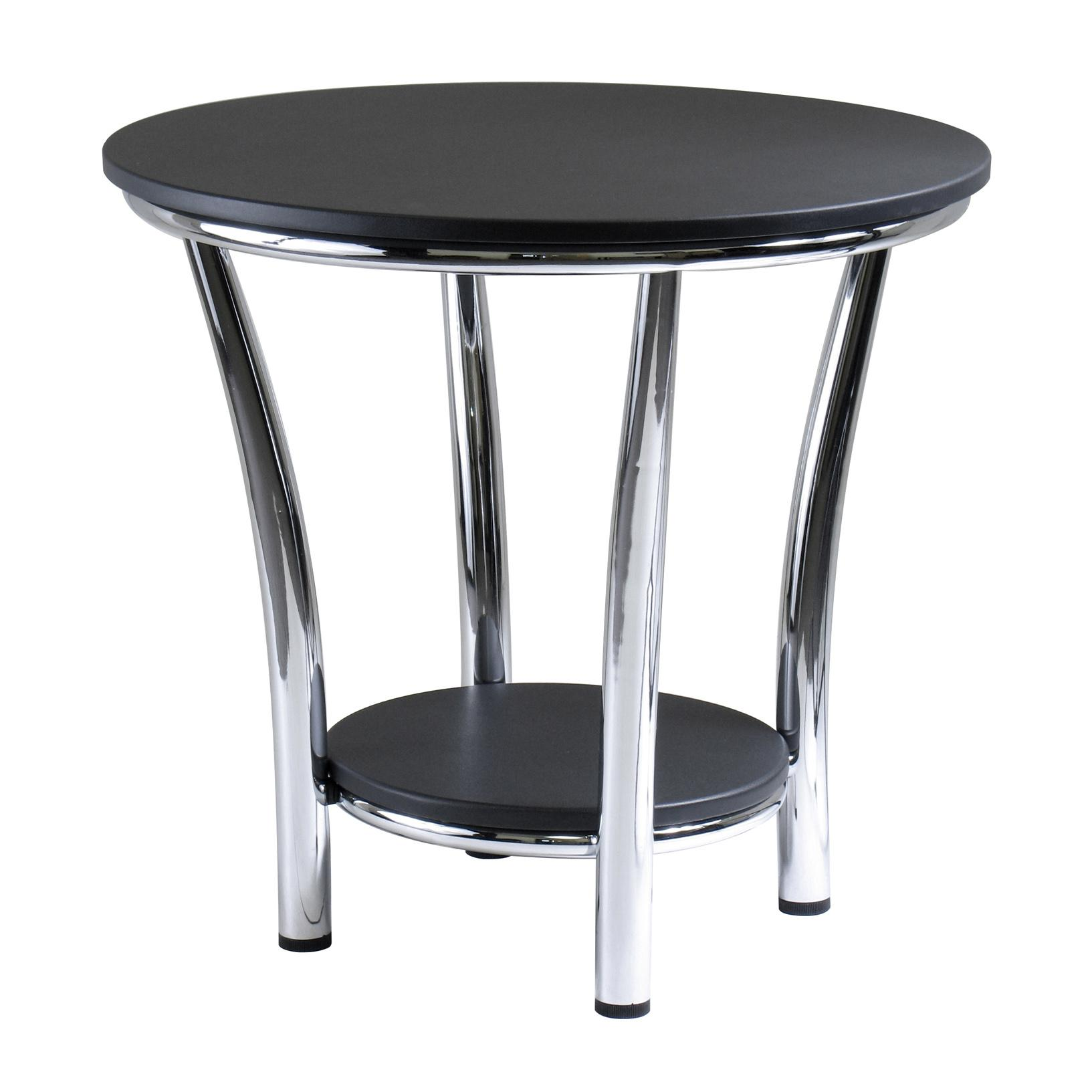 winsome wood round end table black top metal legs from the manufacturer oriental cocktail tables outdoor furniture and fire pit pipe flange dimensions dog crate pallet patio