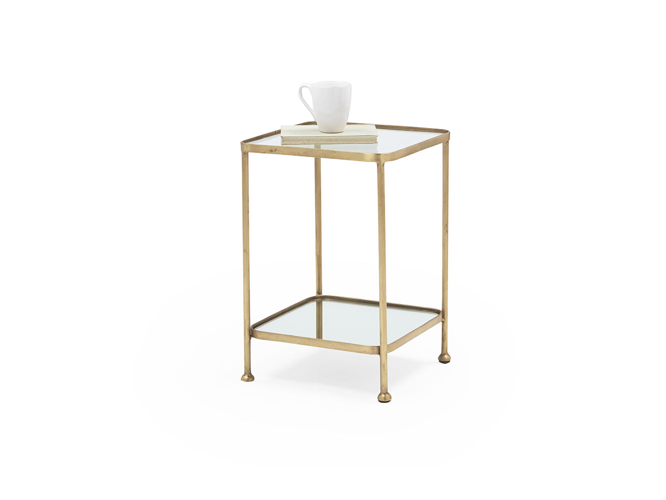 wonder brass side table and glass loaf mirrored end universal furniture inc oak black gloss chunky rustic painting old wood inexpensive big lots floor lamp magazine rack kmart