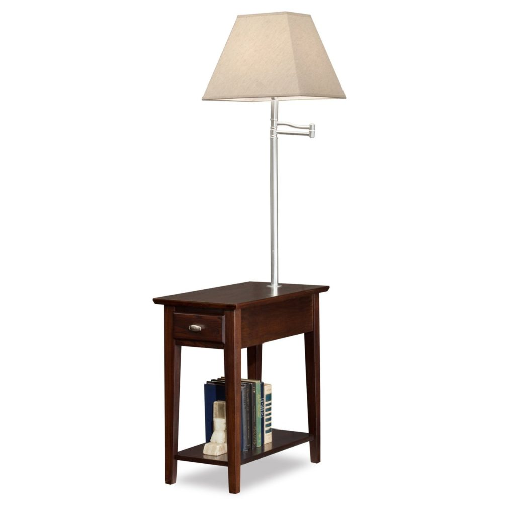 wood table with lamp attached signquantumcontinuum awesome end light decoration accent iron combo diy bedside cabinet plastic for mattress walnut brown coffee short wooden best