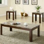 wooden coffee table and end brown marble look top set tables details about furniture tempered glass bayside furnishings crystal side lamps row jobs from pipes rustic decor 150x150
