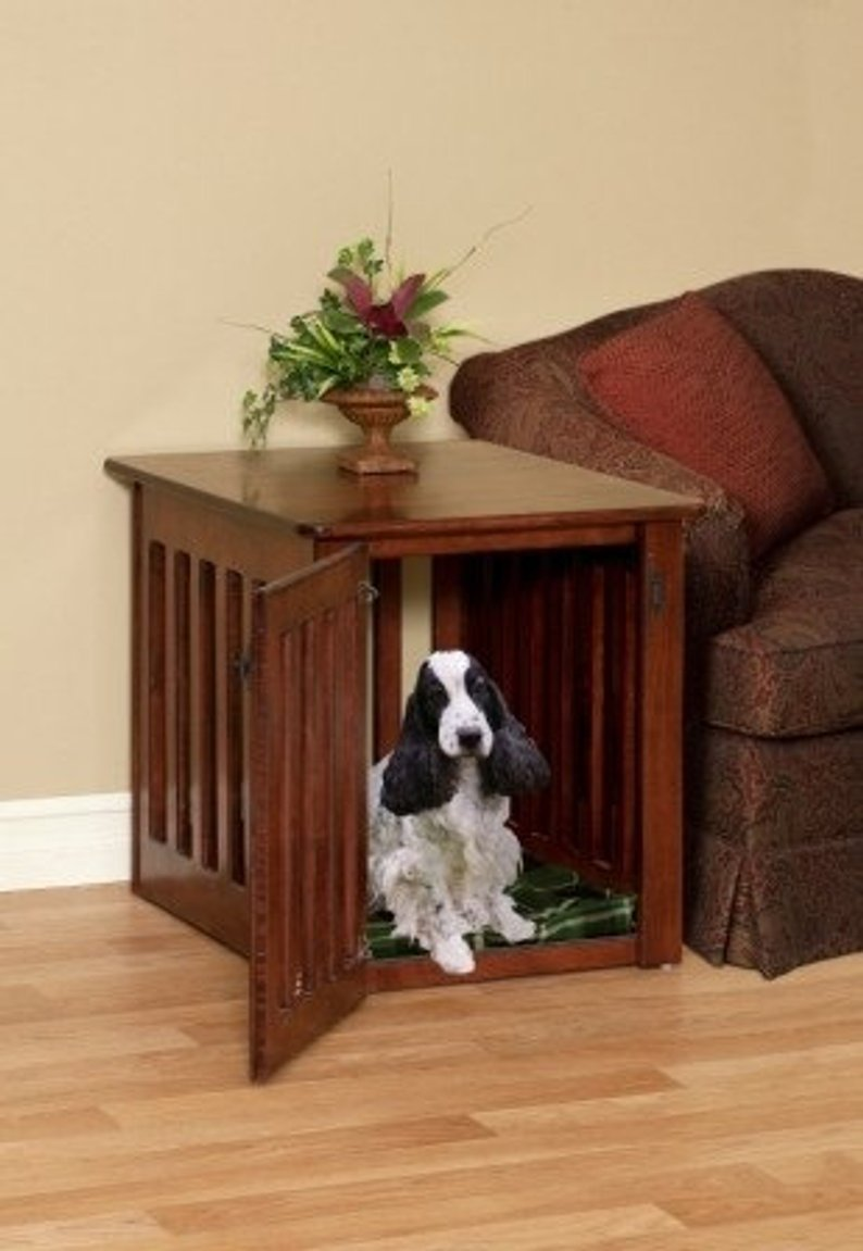 wooden dog crates end table pet crate furniture maple wood etsy king recliner homesense cabinets thomasville bridges bedroom antique coffee wheels tables and side kmart home glass