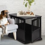 wooden pet crate end table with lockable door ships and narrow lamp round decorating ideas front entry console aspen wood small industrial powell loft desk glass top for coffee 150x150