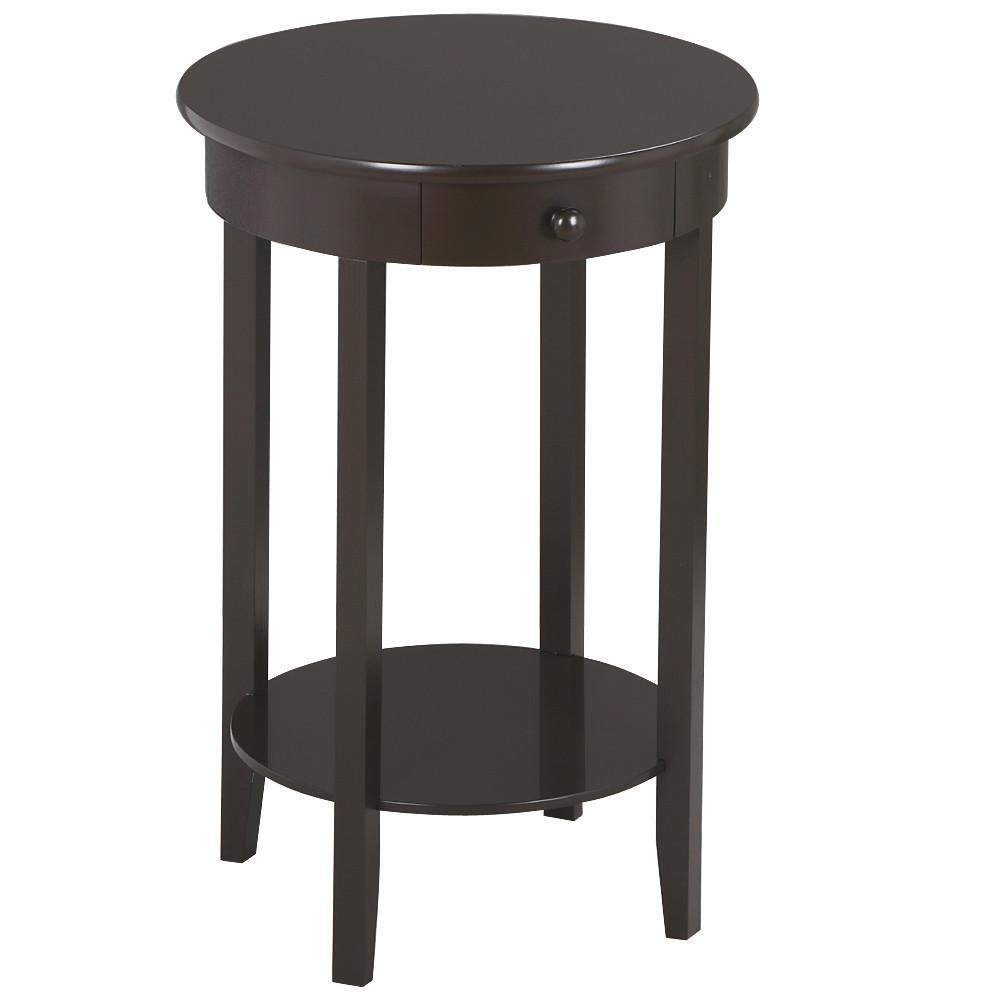 yaheetech round sofa side end tables coffee table bedroom nightstand with drawer and storage shelf for living room narrow space kitchen ashley furniture industries inc signature