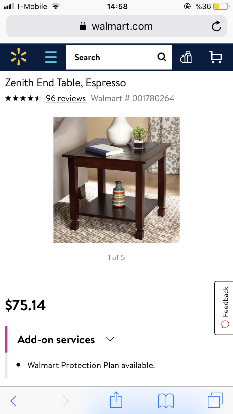 zenith end table espresso home and garden black coffee side white bedside set rugs that match leather couches riverside furniture sierra square glass dining room pottery barn