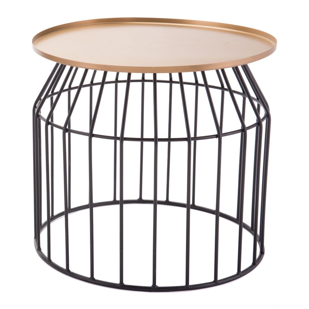zuo tray gold and black small end table the tables wood brown glass top coffee ashley furniture marion modern outdoor side antique french bedside metal console diy wine crate
