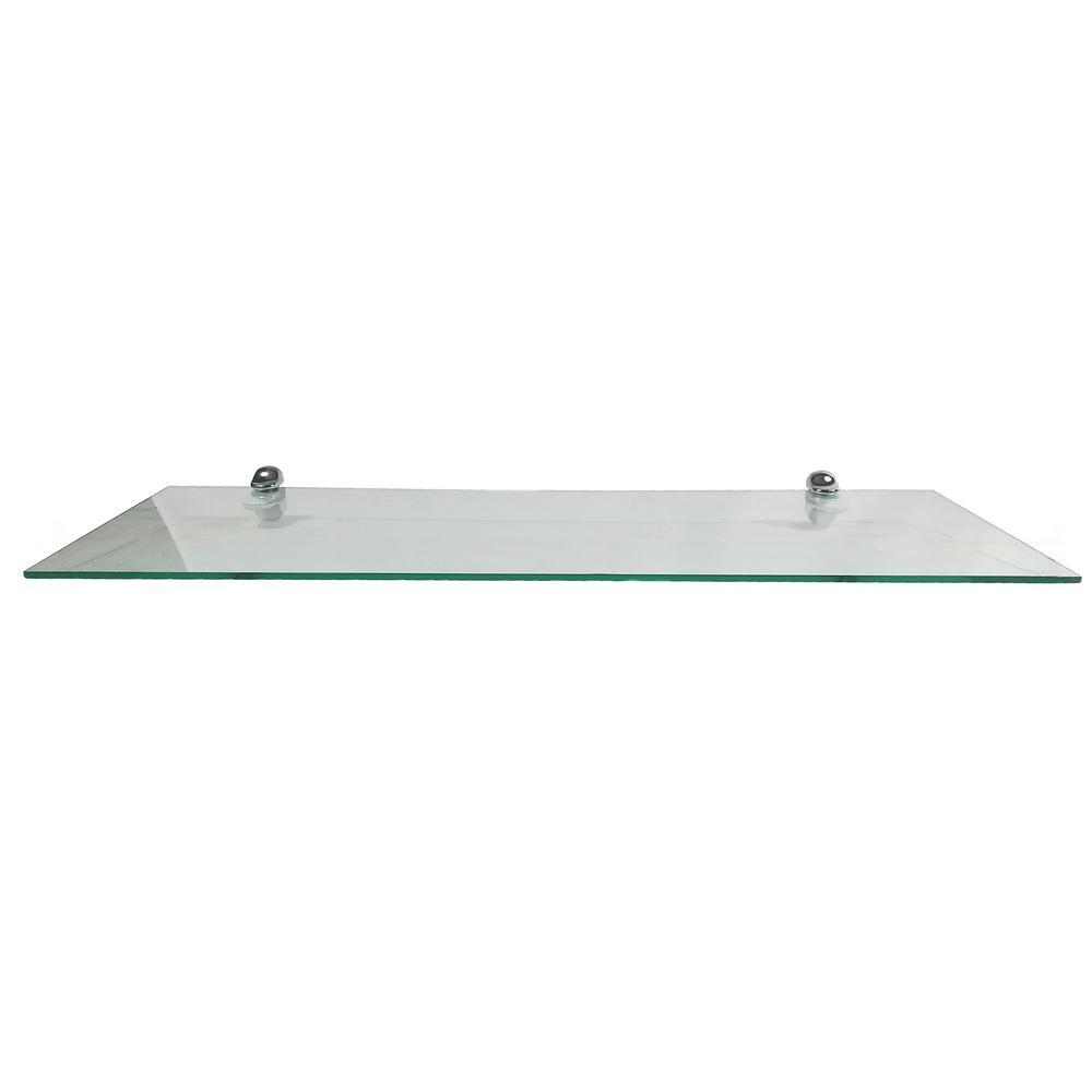 abolos clear glass floating chrome hardware decorative shelving accessories white shelves rectangular wall shelf with nylon brackets the bella vista shower screens cream coat rack