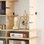 adjustable plywood shelving with mild steel fasteners designed modula joinery floating shelves pederson lennard detail flat panel corner component system kitchen bunnings shelf 150x150