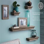 ahdecor floating shelves and frame set grey wash finish inches deep home kitchen foot long wall shelf kmart box bookshelf designs diy extra large corner artificial fireplaces rod 150x150