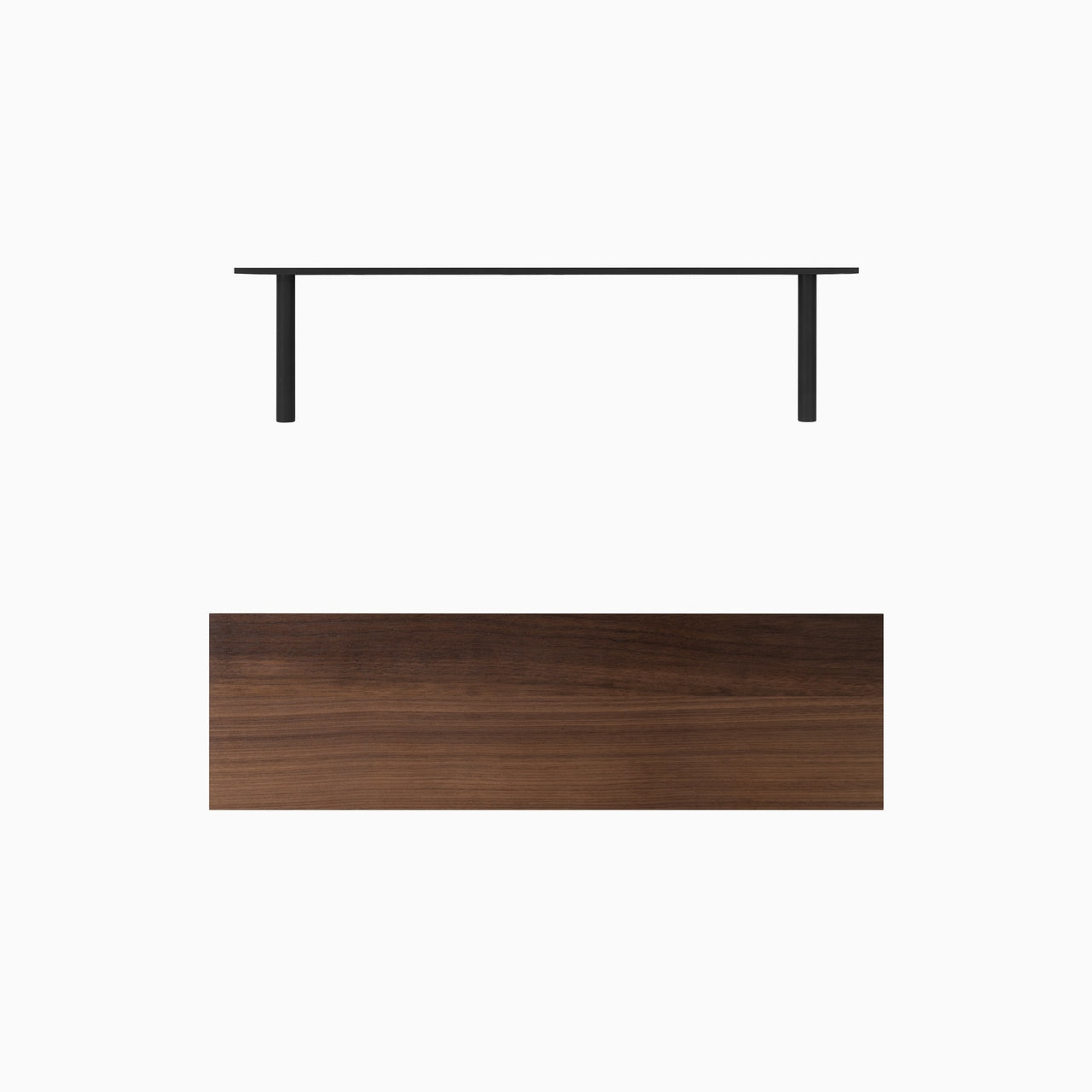 aksel nearly walnut floating shelf system shelfology parts mounting options satin finished solid perfect for diy professional choose artisan home furniture ikea storage rack metal