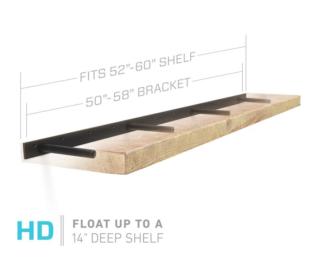 aksel rod bracket kitchen floating shelves wood inch deep shelf heavy duty brackets support through that are island wall insert installing linoleum tiles over plywood black
