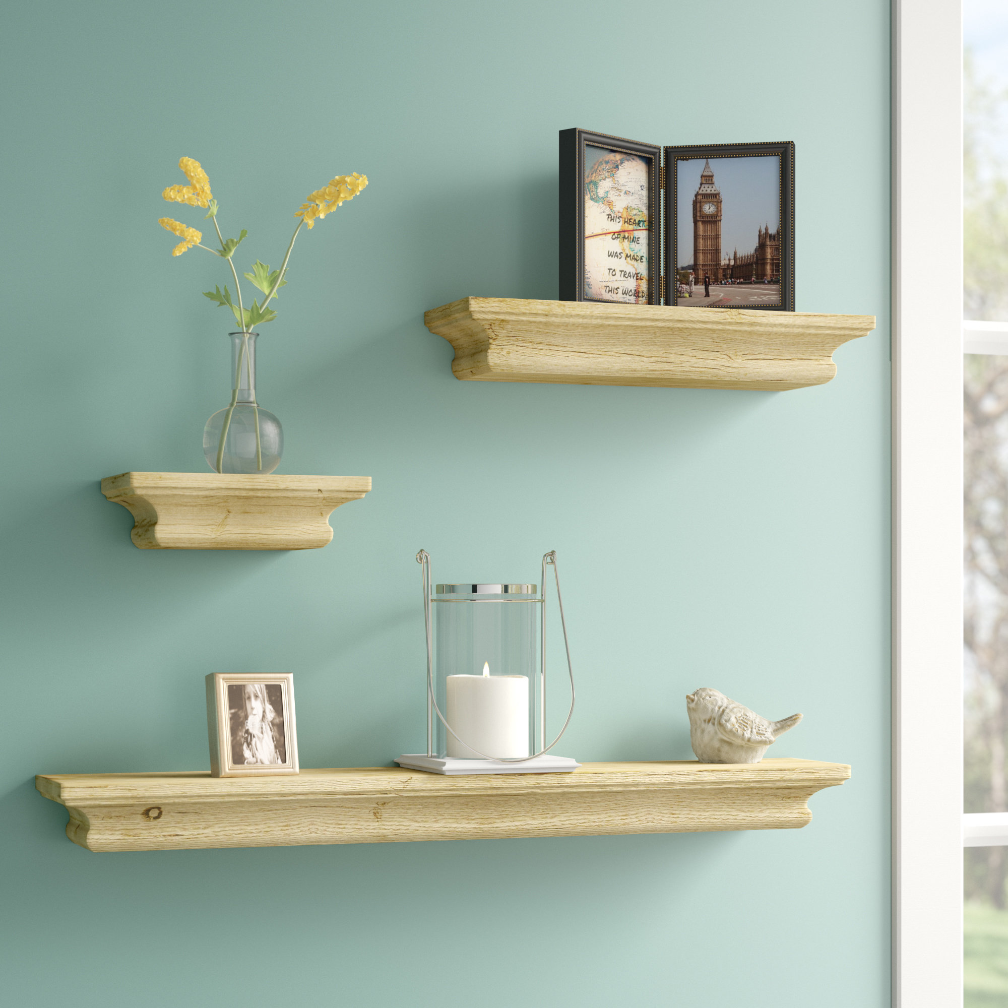 alcott hill piece floating shelf set reviews wall bookshelf cupboard above toilet bolts crown molding target under bathroom mirror oak effect lamp table design counter corner