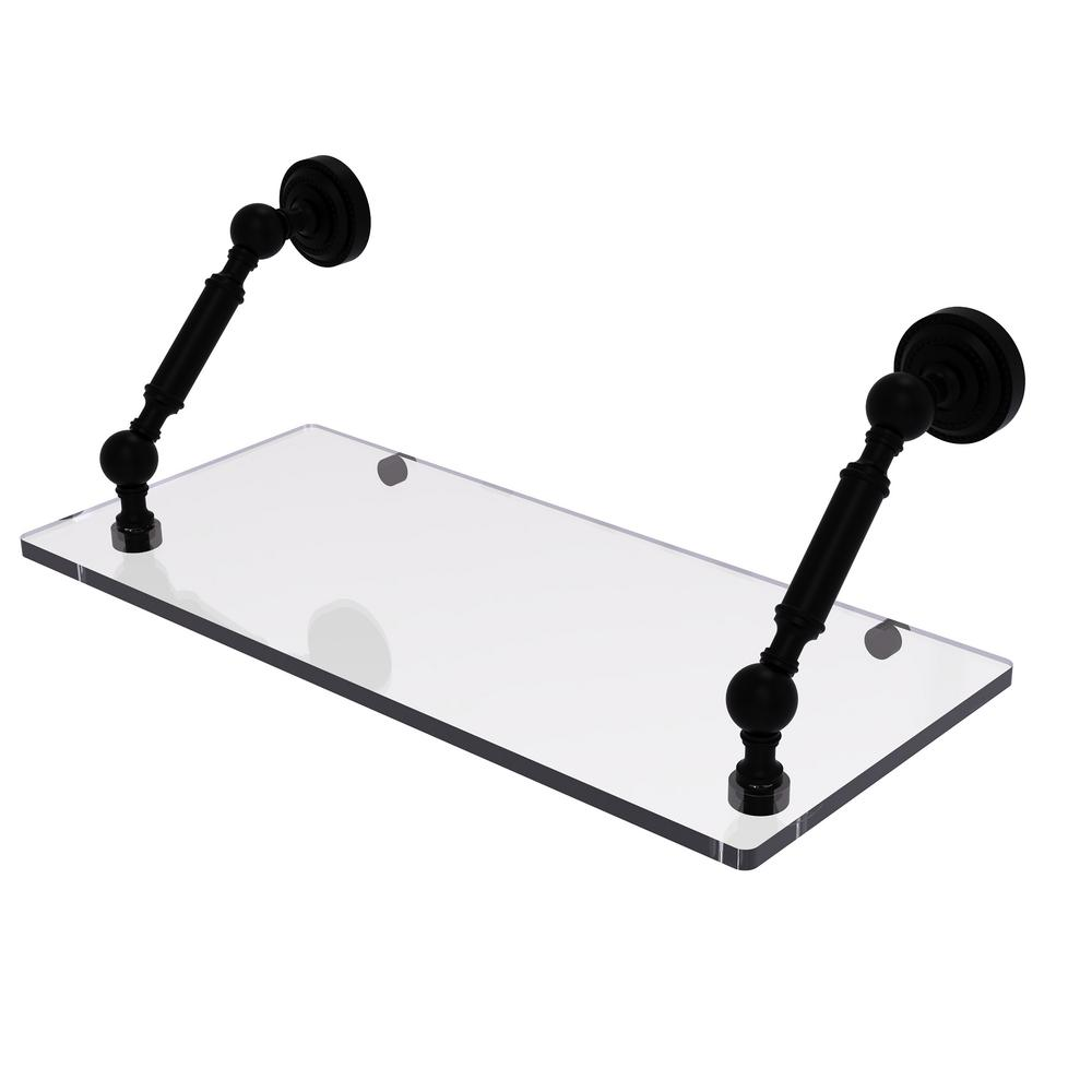 allied brass dottingham collection floating glass shelf matte black bathroom shelves bkm metal cabinet support brackets wall fitting dressing table ledge espresso modern design