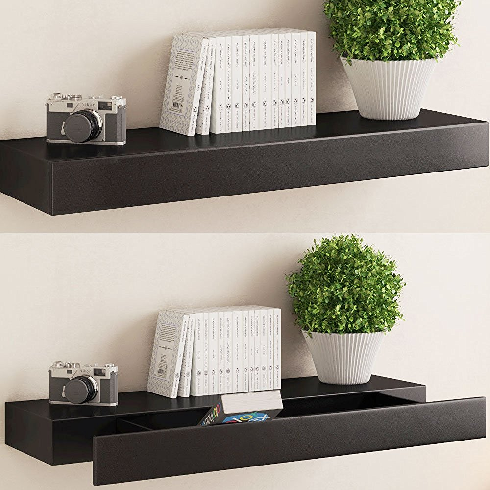 amazing floating shelves with drawers that make your steel black gloss drawer shelf hanging heavy art drywall sink vanity unit component shelving entryway hall tree storage bench