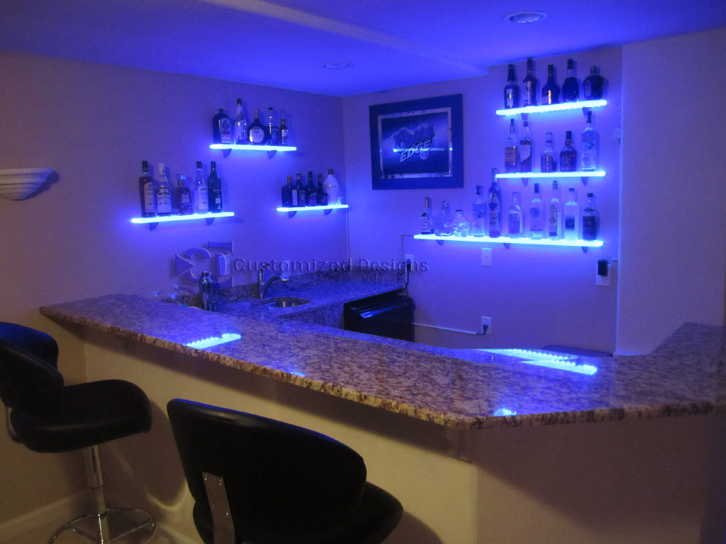 another awesome illumishelf lighted floating shelf installation led wall shelves behind bar wooden bathroom shelving unit mount adjustable dvd ikea end table cream custom shoe