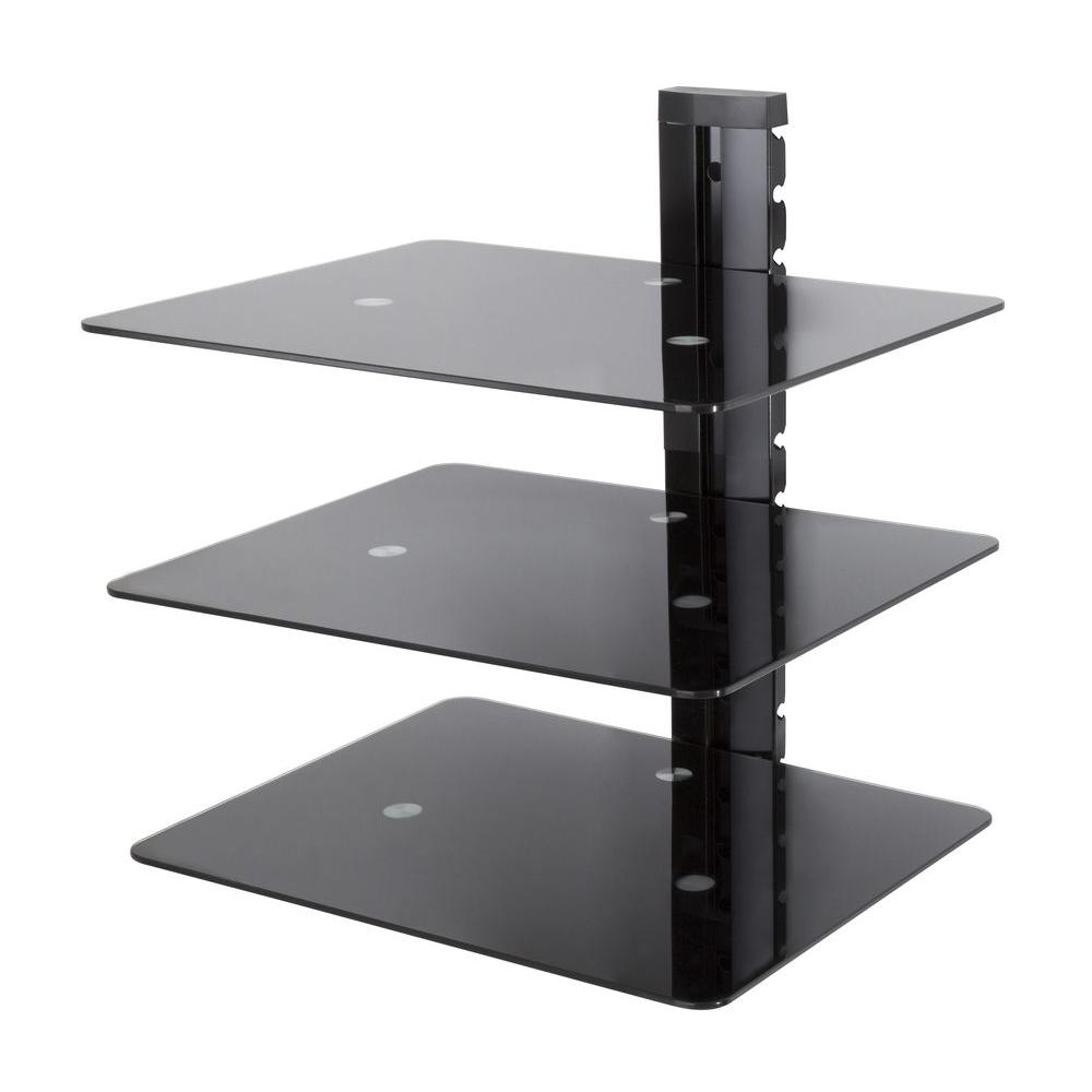 avf wall mounted component shelving bracket shelf mounts floating mount for dvd bunnings laminate led illuminated glass shelves fireplace mantel extendable coffee table ikea cube