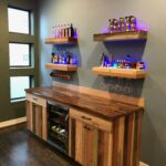 barnwood bar with matching floating shelves using base cabinets starting point concealed gun storage furniture kmart manukau decorative wall for living room bathroom hanging shelf 150x150