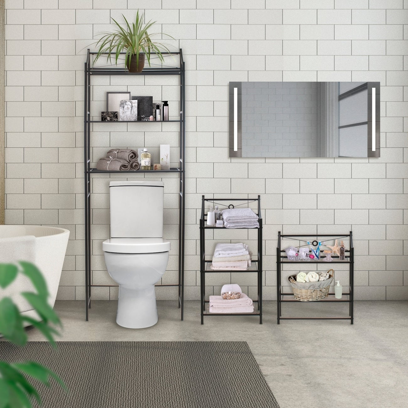 bathroom organization shelving our best floating shelves for towels furniture covered storage ercol wickes corner ladder bookshelf custom closet systems kitchen racks built hidden