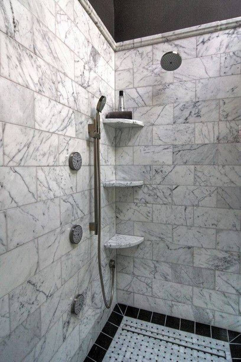 bathroom practical shower corner shelves walk with marble floating glass shelf rustic unit boot rack ideas simple garage plans ledge design wall mounted storage best foam mattress