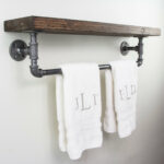 bathroom rack shelves towel tier bath storage slim with shelf floating for towels command coat hanger unit wall mounted custom closet systems iphone plus lazada corner ladder 150x150
