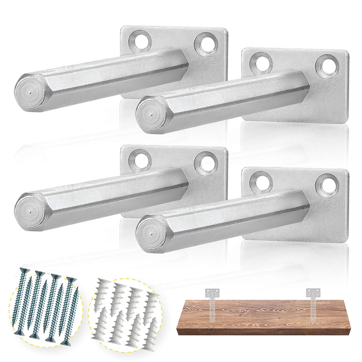 batoda floating shelf bracket pcs galvanized steel xuzl wall shelves with brackets blind supports hidden for wood concealed support flat screen mount cable box bathroom cabinet
