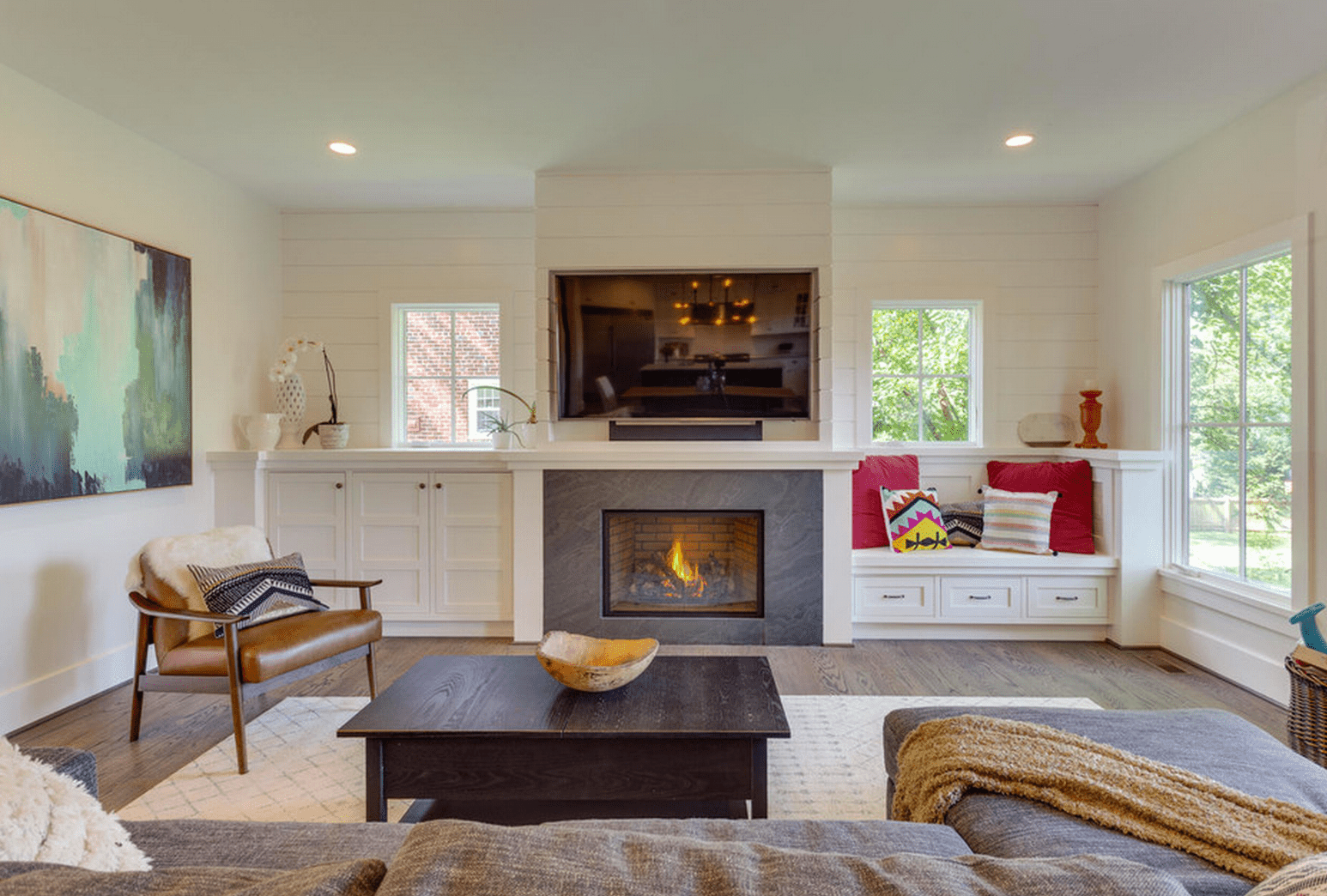 beautiful living rooms with built shelving under cabinet ins development floating shelves flanking fireplace fire mantel surround desktop storage rack tall metal pipe shelf