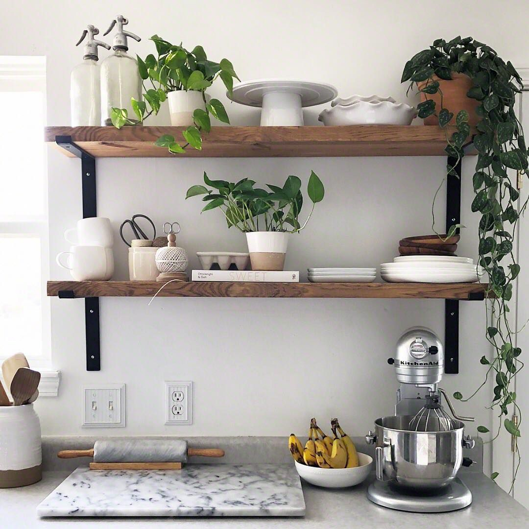 beautiful open kitchen shelving ideas spruce shelves decorating floating concealed shelf hardware coat rack with hooks and small stick ture ledge brackets steel pins secret ikea