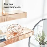 beautify set rose gold mirrored shelves floating display sentinel ledges large small storage custom wood corner shelf entryway bench and wall book stand peel stick tile concrete 150x150