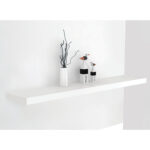 bergen gloss white floating shelf home more wall decor accessories res shower bracket holder inch wood shelves above kitchen cabinets organizer television with hanging desk rustic 150x150