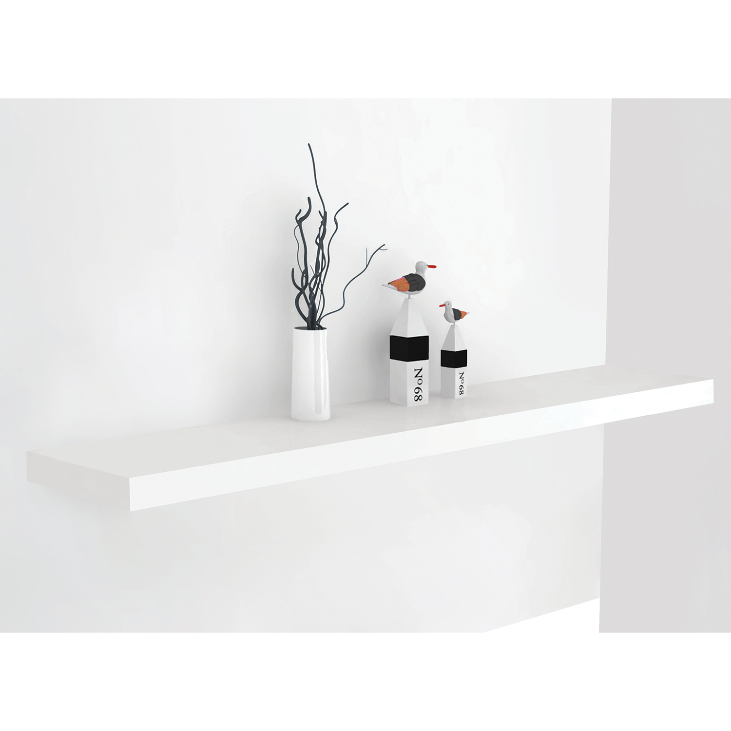 bergen white floating shelf home more wall decor accessories res black bathroom sink stand lack shelving unit for prepac media whole units bunnings garage storage cupboards
