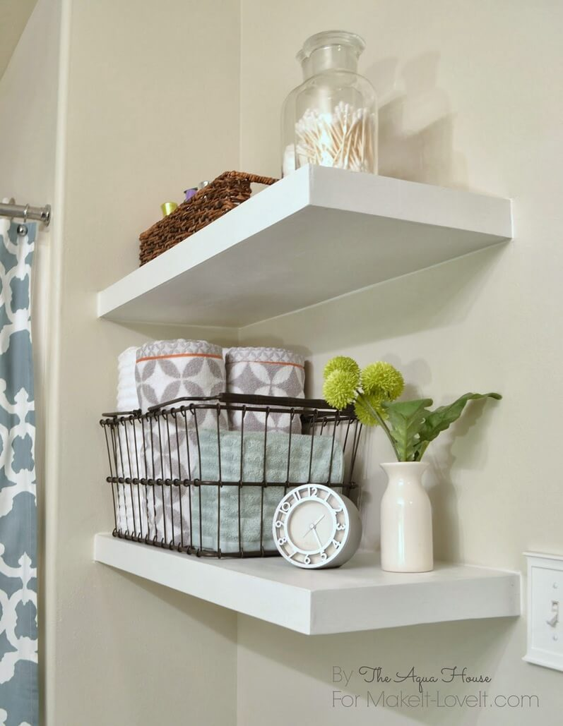 best diy bathroom shelf ideas and designs for homebnc floating shelves scandinavian simplicity corner barnwood with hooks white box shelving unit calgary custom units wall pegs