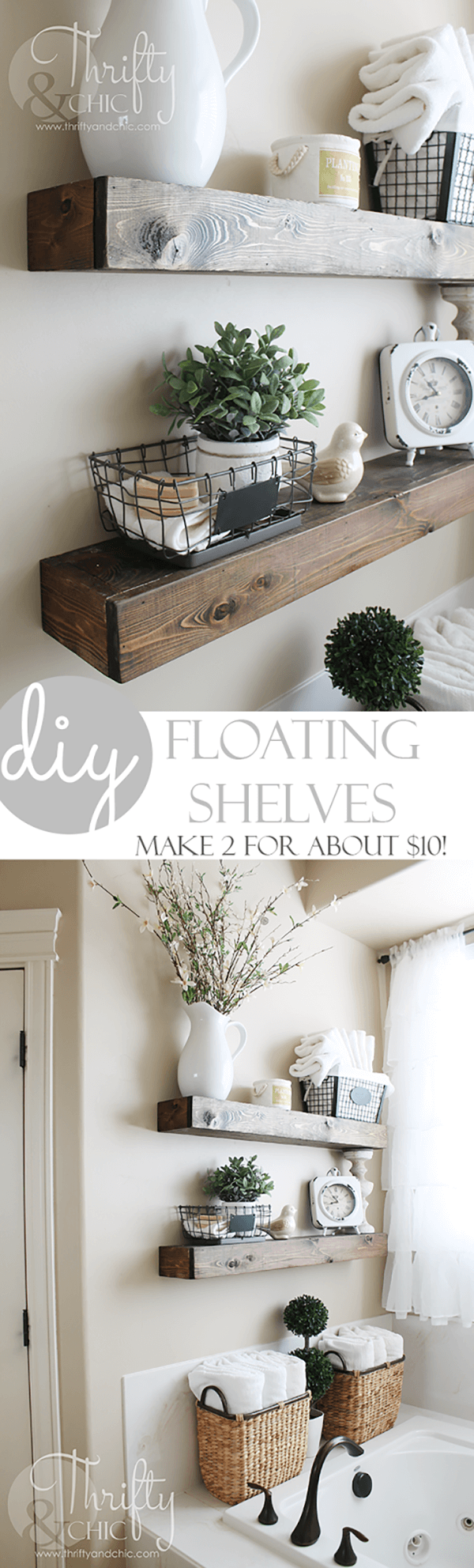 best diy bathroom shelf ideas and designs for homebnc floating shelves small petite chateau inspiration kitchen island kitchens media set furniture wall sink office crown molding